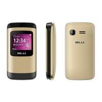 BLU Zoey Flex Factory Unlocked GSM Phone FM Radio Dual SIM Z130 Gold