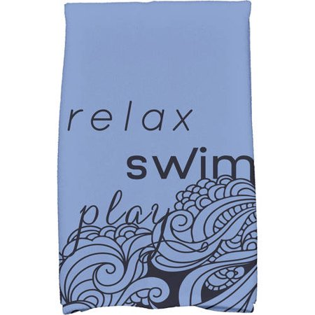 Simply Daisy 18u0022 x 30u0022 Mellow Mantra Word Print Kitchen Towel