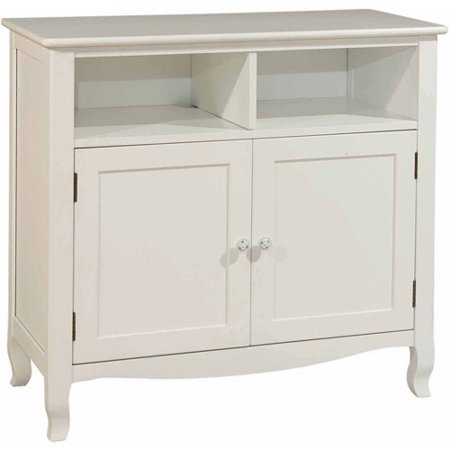 Bolton Furniture Emma Media Storage Cabinet, White