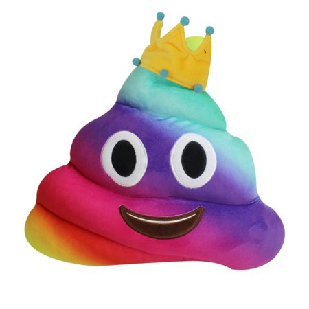 New Amusing Emoji Emoticon Cushion Heart Eyes Poo Shape Pillow Doll Toy Gift - Heart Emojicon