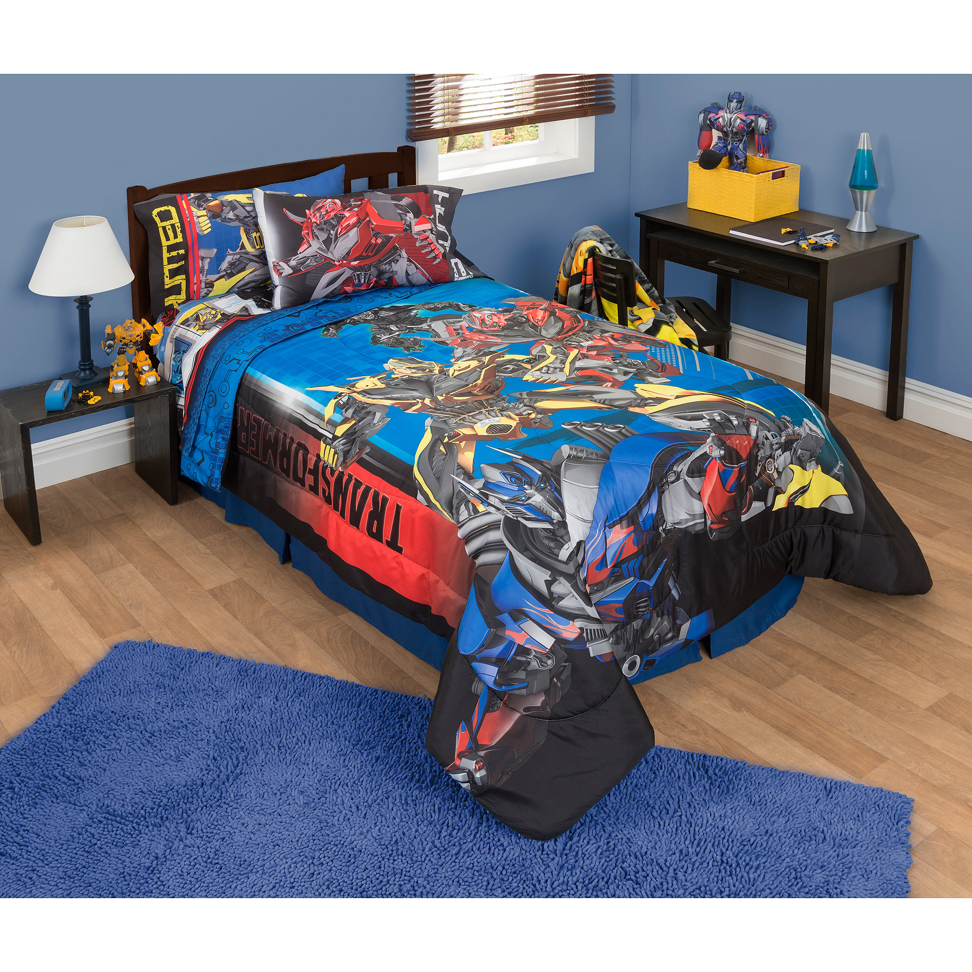 Amazing Transformers 4 Battle Royale Twin/Full Reversible Comforter, Blue    Walmart.com