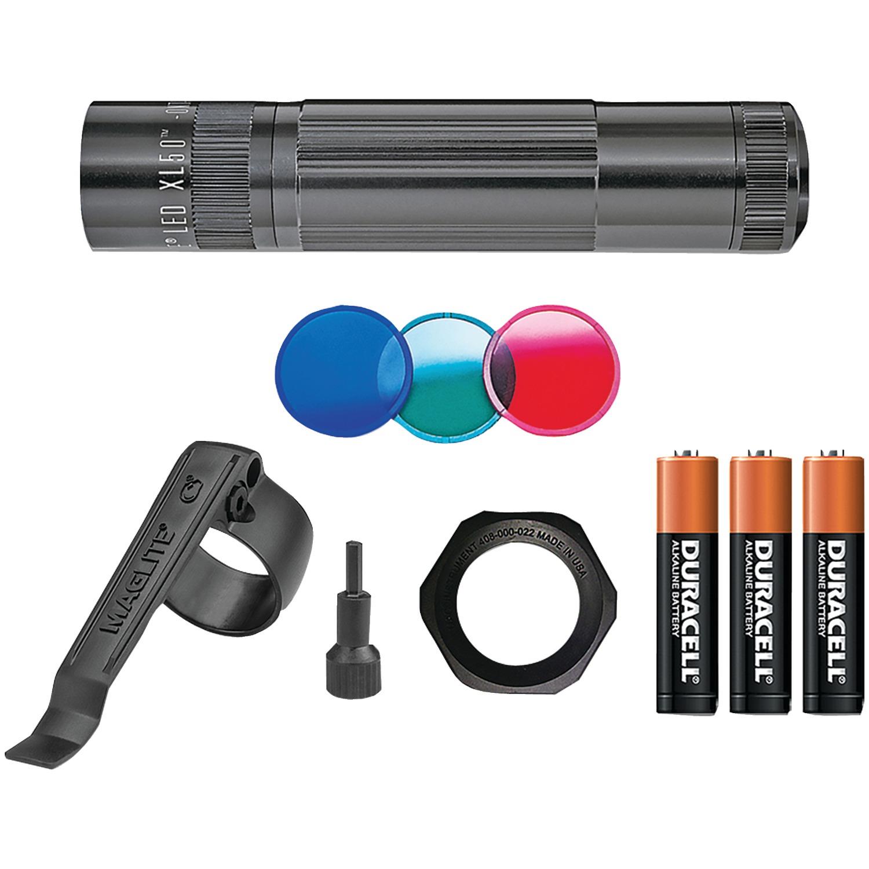 Maglite XL50 Tactical LED Flashlight, Uses 3 AAA Batteries, Black