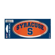 "Syracuse University 3"" x 7"" Chrome Decal"