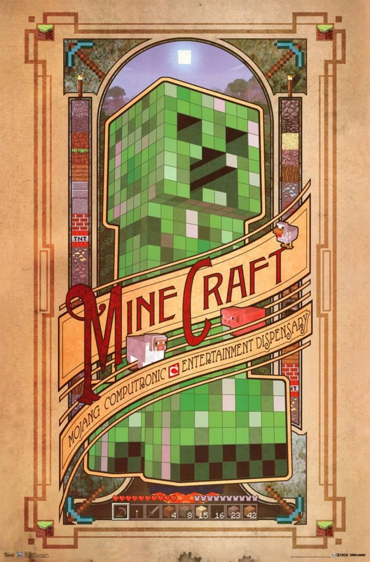 Minecraft Computronic Poster 22x34 by Trends International