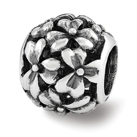 Sterling Silver Reflections Filigree Flower Bead