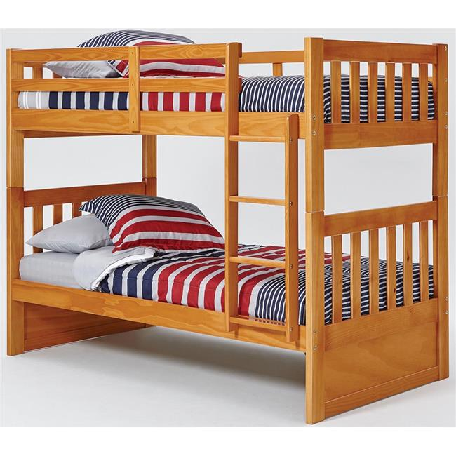 Chelsea Home Furniture 36TT700 Twin Over Mission Bunk Bed with Ladder