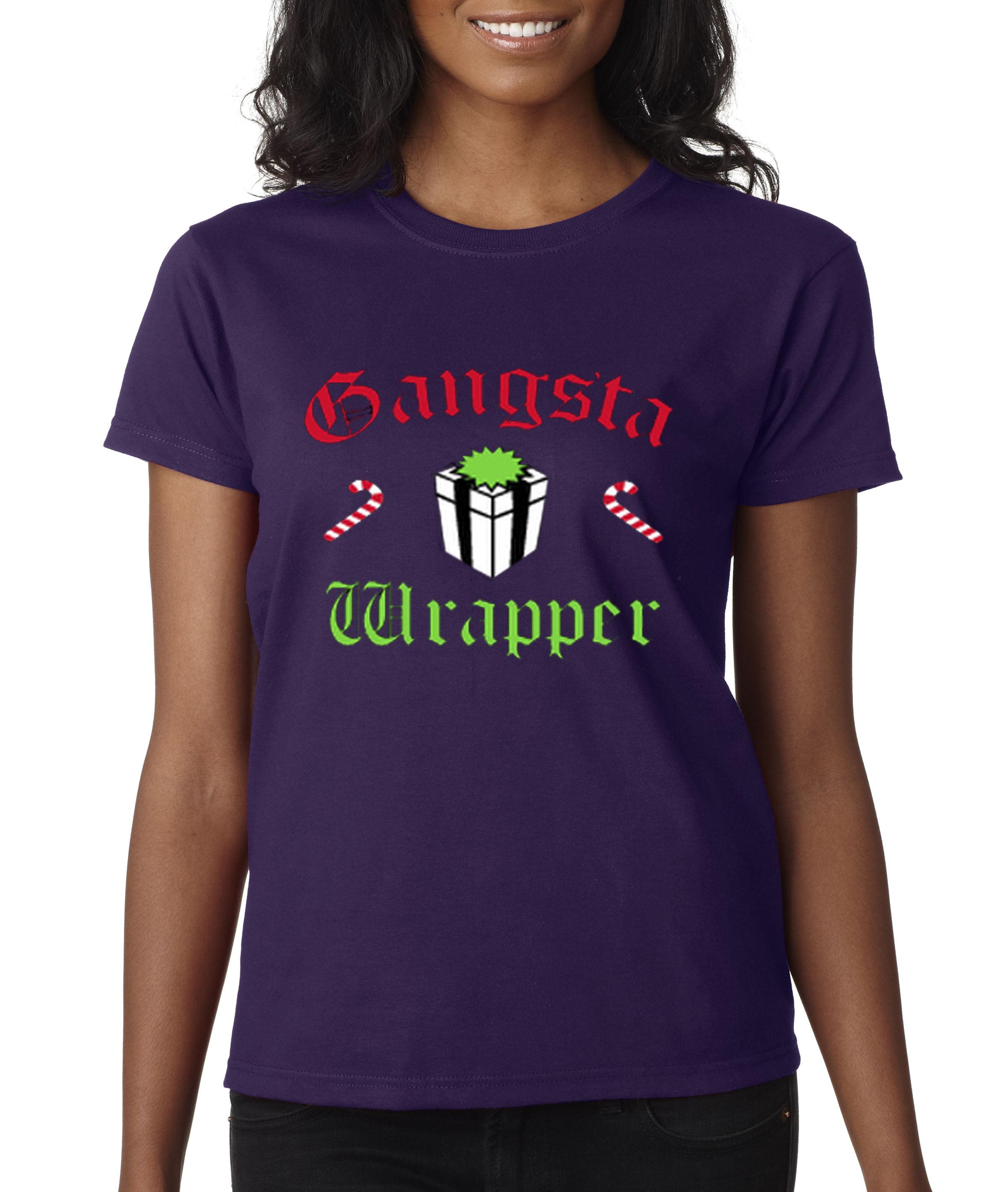9349422d New Way 588 - Women's T-Shirt Gangsta Wrapper Rapper Gift Candy Cane  Christmas