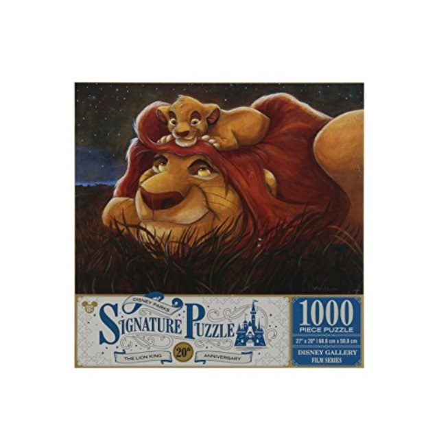 Disney Parks 20th Anniversary Darren Wilson Lion King 1000 Piece Puzzle by