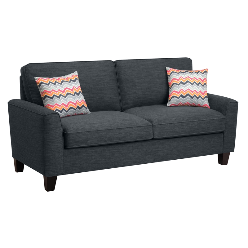 "Alan 78"" Sofa in Charcoal"