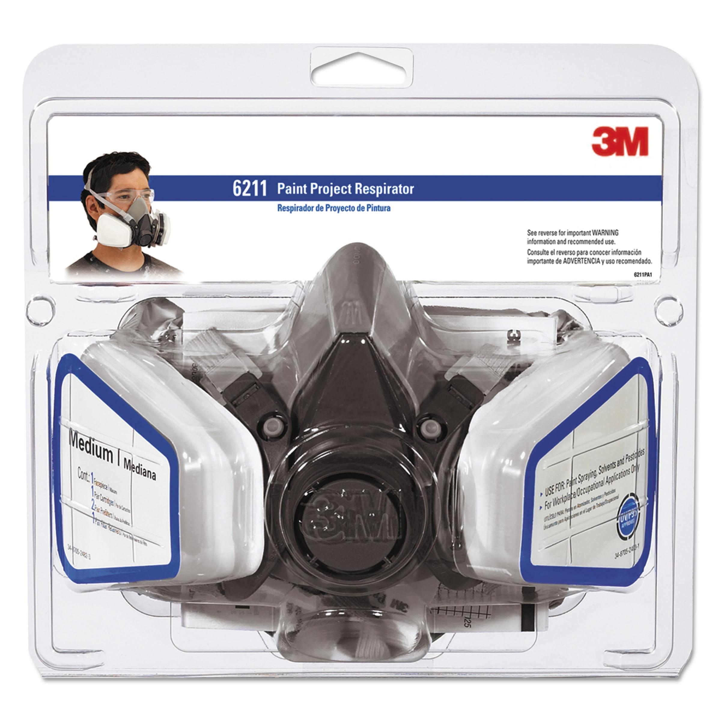 3M 6211PA1-A Dual Cartridge Paint Spray Respirator by 3M