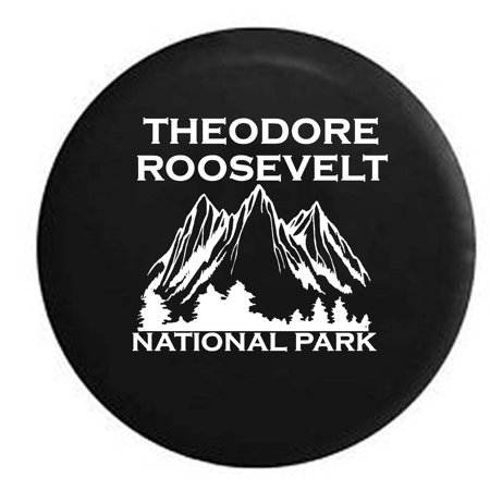 - Theodore Roosevelt National Park North Dakota Trailer Spare Tire Cover Vinyl Black 33 in