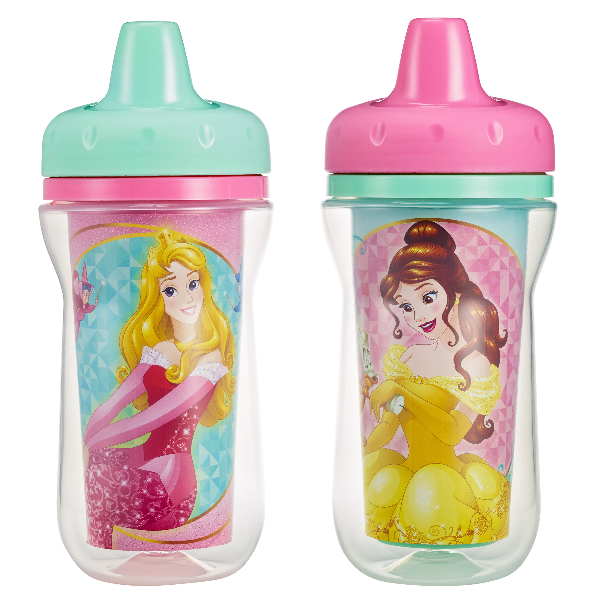 The First Years Meal Mates Insulated Hard Spout Sippy Cup - Princess, 2 pack