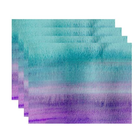 Multi Placemat (Simply Daisy Painted Sunset 18 x 14 Inch Multi Stripe Print Placemat (Set of)