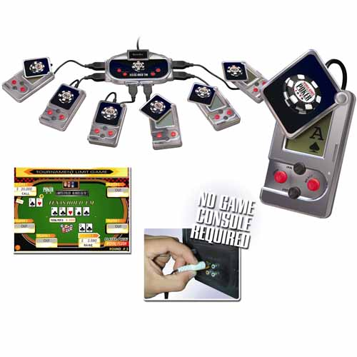 Excalibur World Series of Poker 6-Player Plug-and-Play Texas Hold 'Em Game