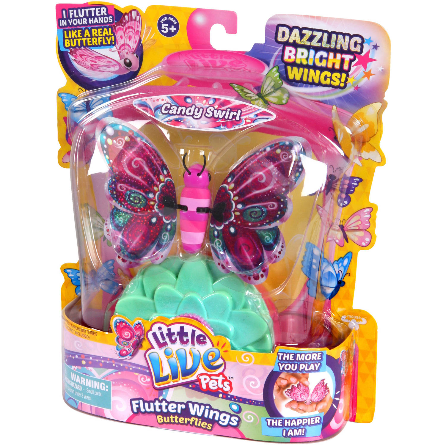 Moose Toys Little Live Pets Season 3 Butterfly Starter Pack, Candy Swirl