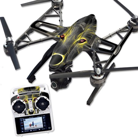 Skin Decal Wrap for Yuneec Q500 & Q500+ Quadcopter Drone Neon Wolf