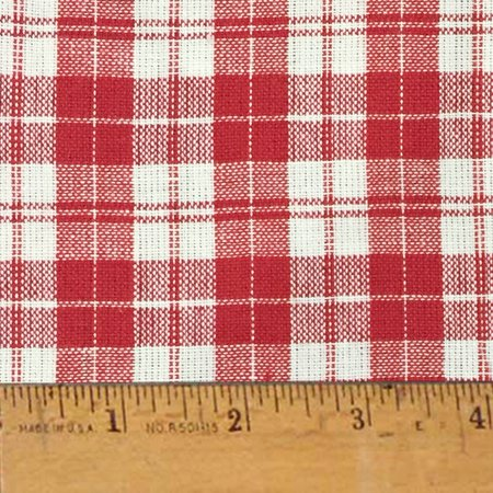 Cherry Red 5 Plaid Homespun Cotton Fabric Sold by the Yard - JCS Fabric