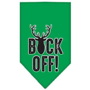 Buck Off Screen Print Bandana Emerald Green Small