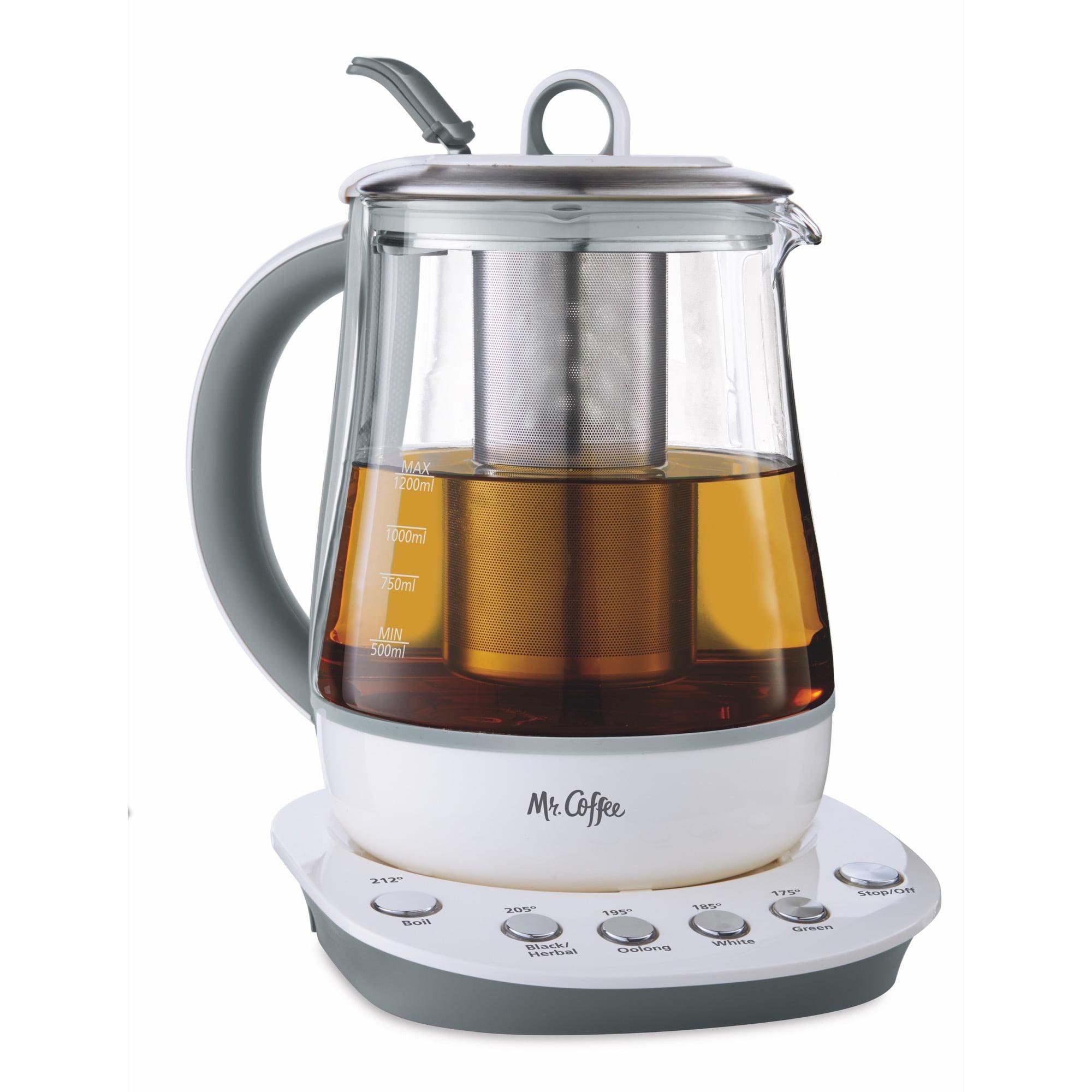Mr. Coffee Hot Tea Maker and Kettle, White - Walmart.com ...