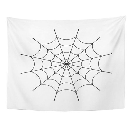 Scary Halloween Clips (UFAEZU Spider Clip Black Cobweb Spiderweb Silhouette Symbol Halloween Network Trap and Danger Scary Arachnid Wall Art Hanging Tapestry Home Decor for Living Room Bedroom Dorm 51x60)