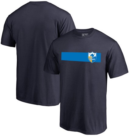 Los Angeles Chargers NFL Pro Line by Fanatics Branded Vintage Rugby Stripe T-Shirt - Navy (Nfl Rugby)