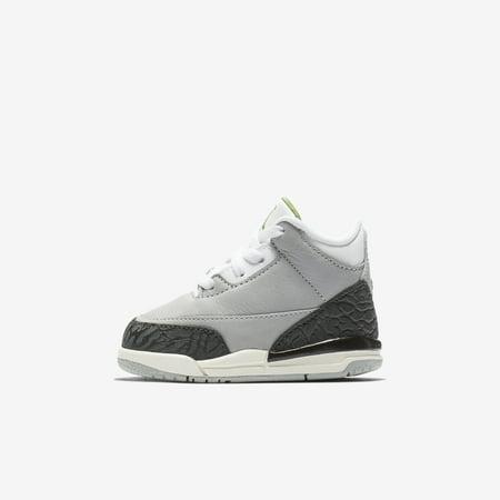 Cheap Kids Jordans (Nike Air Jordan 3 Retro TD Chlorophyll Toddler Kids Basketball Shoes)