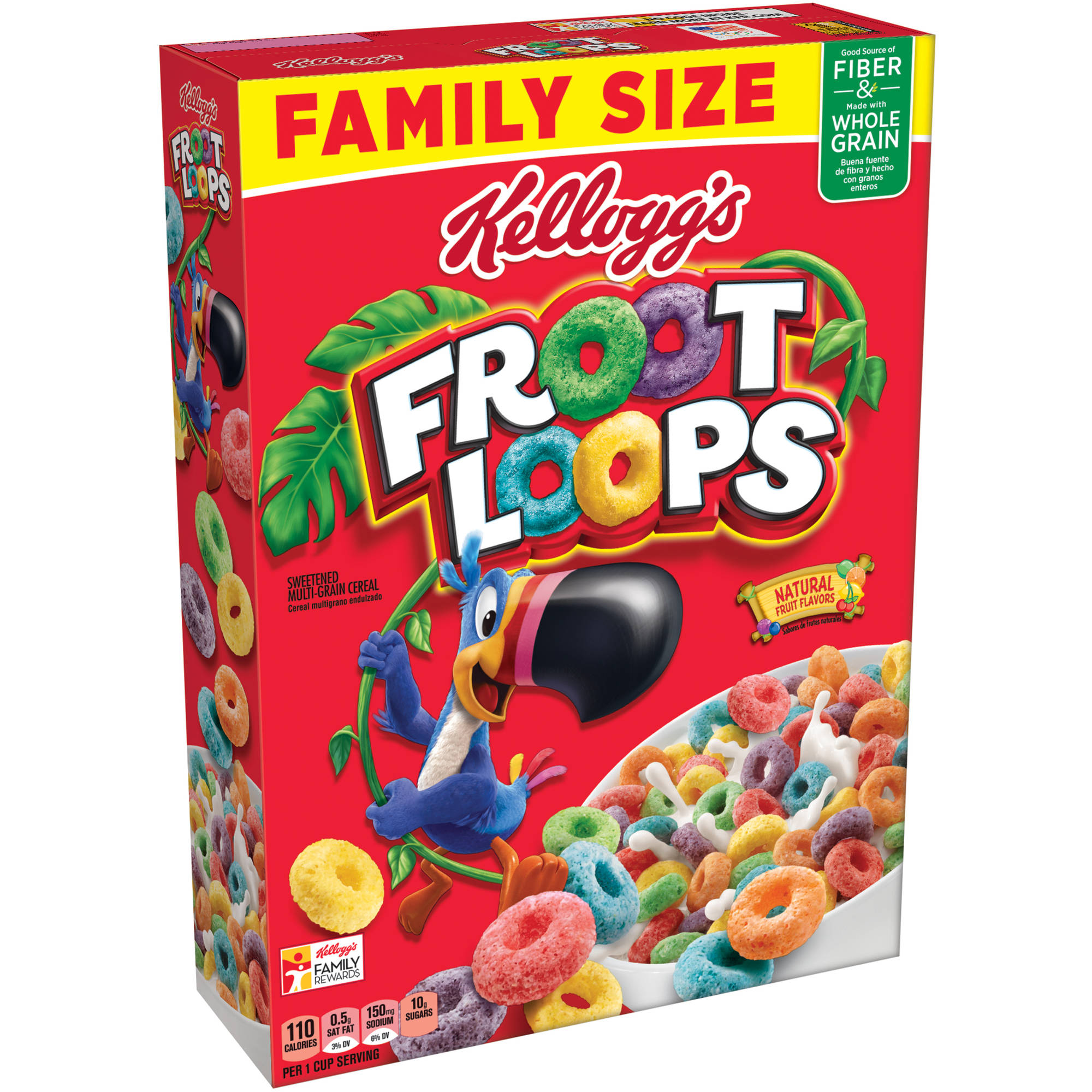 Kellogg's Froot Loops Whole Grain Cereal, 21.7 ounce