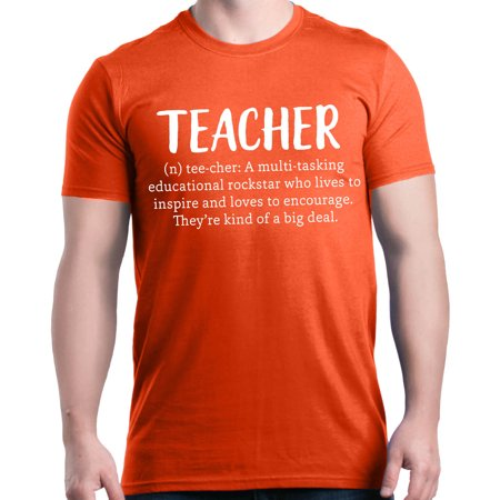 Shop4Ever Men's Teacher Definition Graphic T-shirt ()
