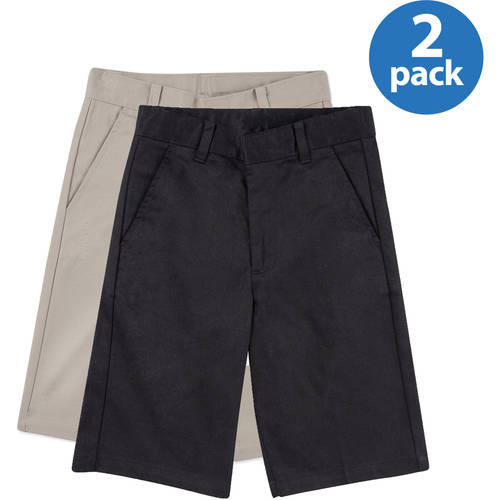 George Boys' School Uniforms, Flat Front Short 2 Pack