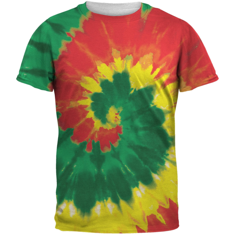 Rasta Tie Dye All Over Adult T-Shirt