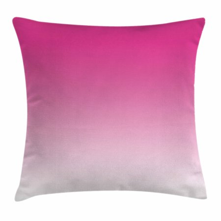 Ombre Throw Pillow Cushion Cover, Hot Pink Candy and Cream Inspired Ombre Digital Design Art Print Modern Room Decorations, Decorative Square Accent Pillow Case, 16 X 16 Inches, Pink, by Ambesonne (Candy Pillows)