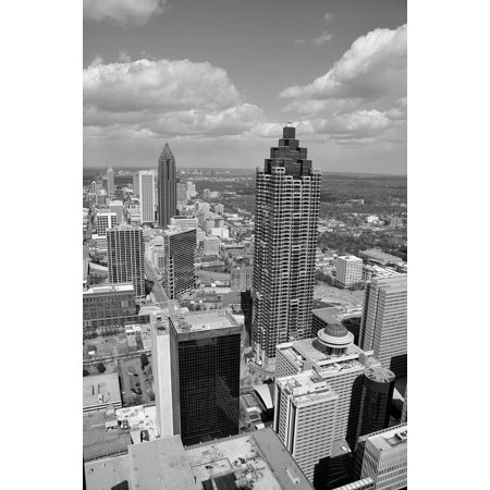 LAMINATED POSTER Atlanta Aerial View Downtown City Usa Georgia Poster Print 24 x 36 - Party City Georgia