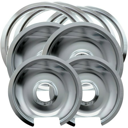 Range Kleen 8 Piece Drip Pan Trim Ring Style D Fits