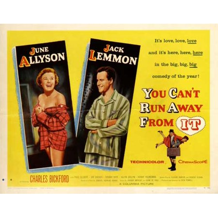You Can't Run Away From It - movie POSTER (Half Sheet Style A) (22