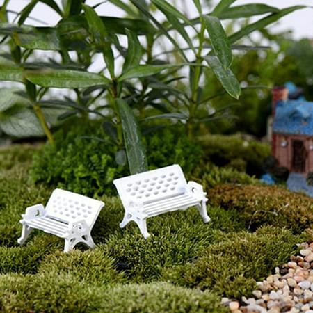 Brilliant Hicoup 2Pcs Mini Park Seat Bench Garden Ornament Miniature Craft Fairy Dollhouse Decor Camellatalisay Diy Chair Ideas Camellatalisaycom