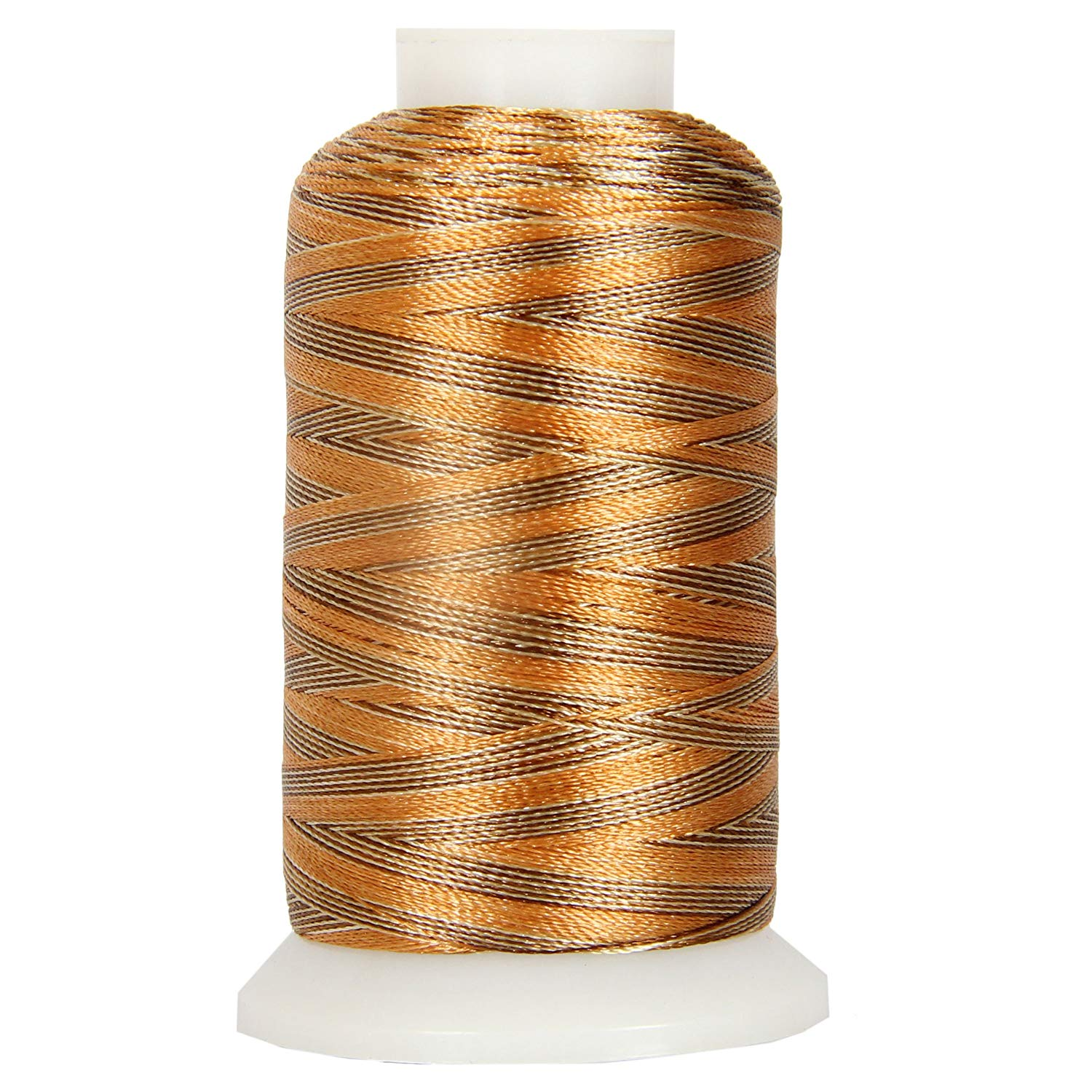 Threadart Variegated Polyester Embroidery Thread - 40wt - 1000m - 25 Colors Available - No. 15 - Sunray - 4 spool bundle pack