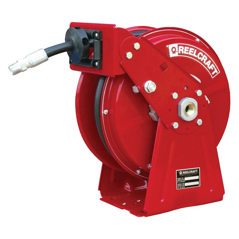 Reelcraft Compact Dual Pedestal Oil 1 2 in. Hose Reel by Reelcraft
