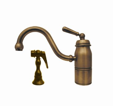Whitehaus 3-3165-SPR-L-ORB Deck Mount Single Handle Faucet In Oil Rubbed Bronze