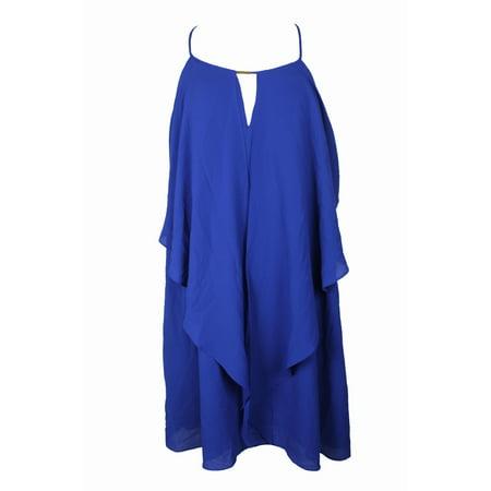 City Chic - City Chic Plus Size Cobalt Blue Waterfall Tunic ...