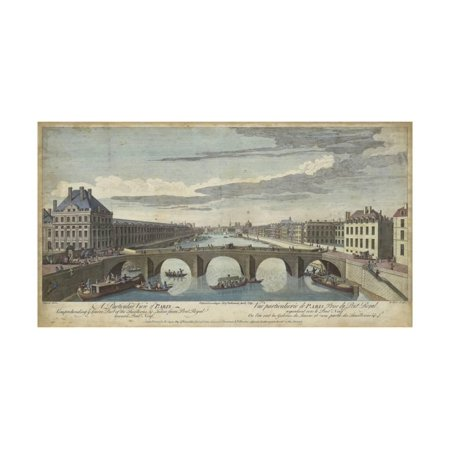 Le Pont Royal, Paris Print Wall Art By -