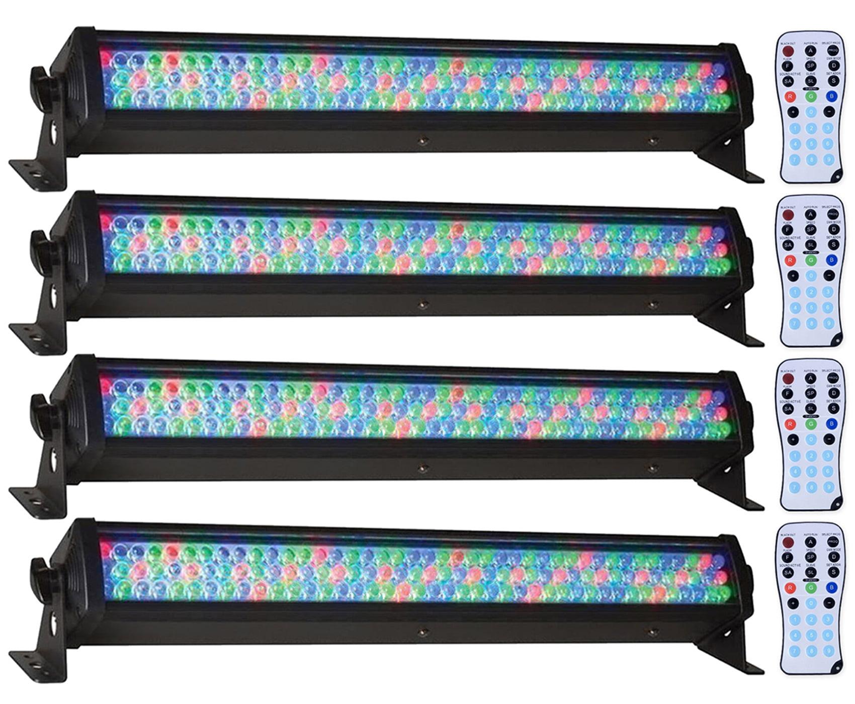 (4) American DJ Mega Bar 50RGB RC 50 RGB LED Color Wash Lights+Wireless Remote by American DJ