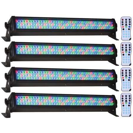 (4) American DJ Mega Bar 50RGB RC 50 RGB LED Color Wash Lights+Wireless Remote American Dj Intelligent Light