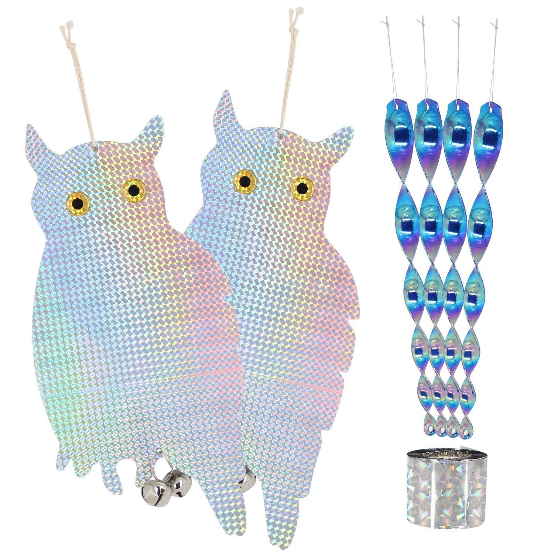 Zaker Reflective Bird Blinder Repellent Hanging Owl With ...