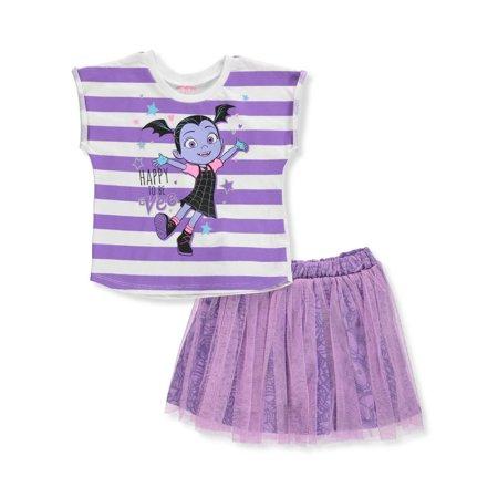Disney Vampirina Girls' 2-Piece Skirt Set Outfit