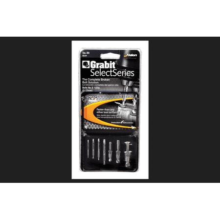 - Alden Grabit SelectSeries 7 pc. Multi Size Double Ended Bolt Extractor Set