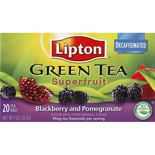 Lipton Blackberry Pomegranate Superfruit Green Tea, 1 oz, (Pack of 6)
