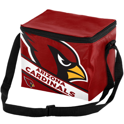 Forever Collectibles Big Logo Stripe 6 Pack Cooler, Arizona Cardinals