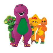 Fun Barney The Dinosaur Show Mascot Kids TV Show Wall Decals Decor Baby Songs I Love You Purple Dinosaurs Sticker Room Decoration for Bedrooms Vinyl Stickers Sticker Boy Girls Size (40x40 inch)