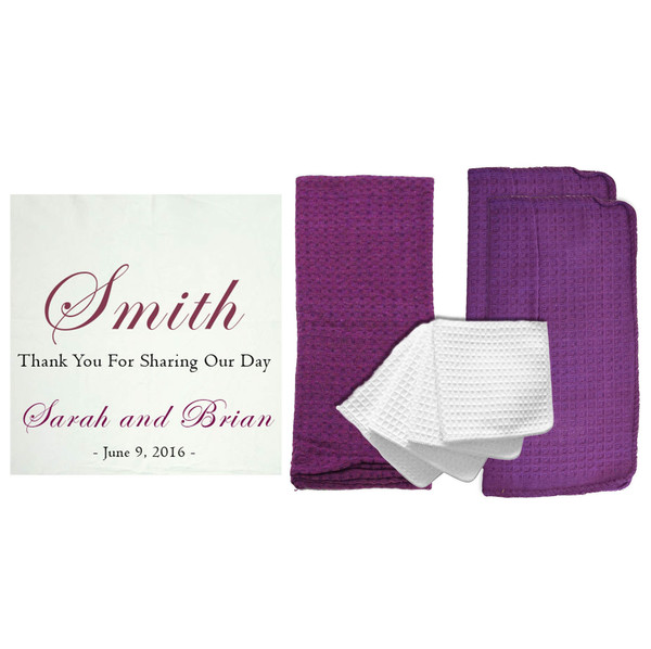 """Personalized """"Thank You For Sharing Our Day"""" 8 Piece Kitchen Towel Set"""