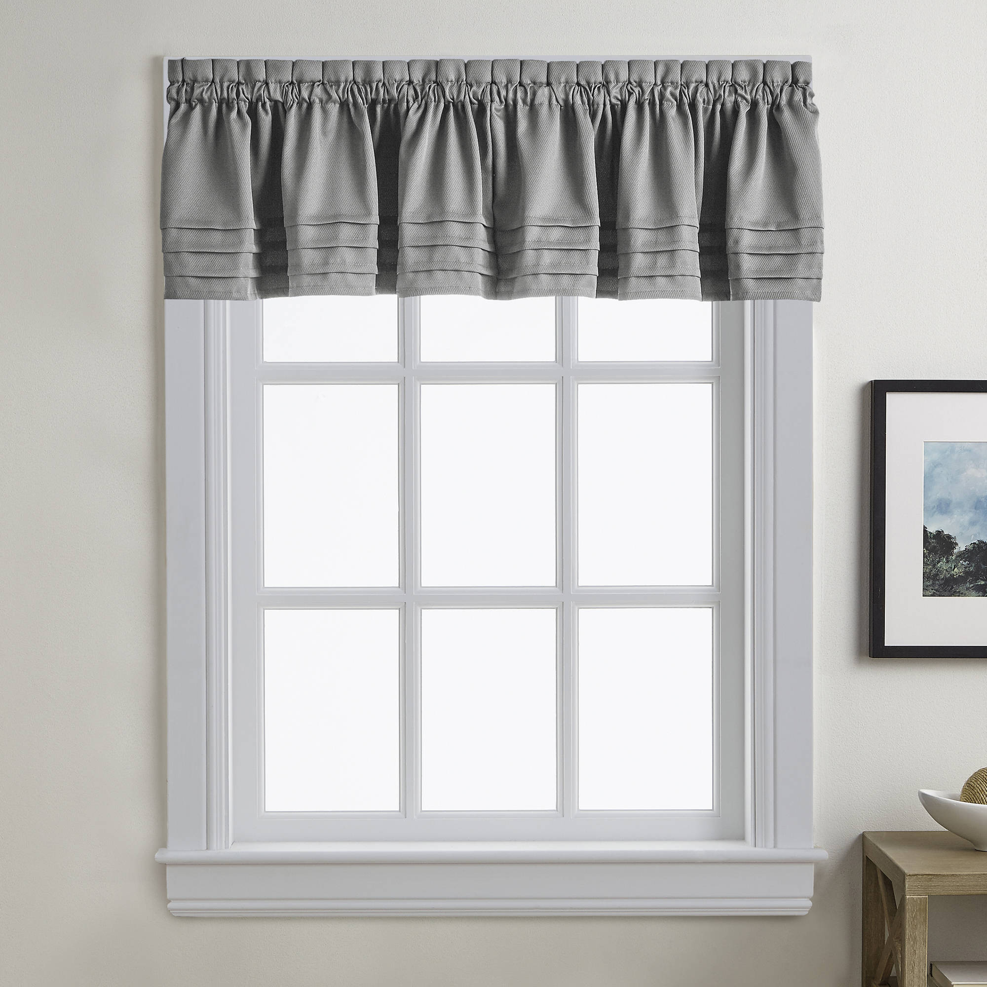 Addison Kitchen Solid Tailored Rod Pocket Twill Valance or Tier Pair